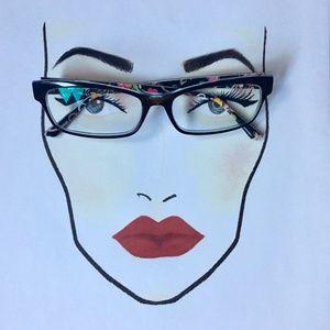 Womens VERA BRADLEY Jasmine Ribbons Eyeglasses